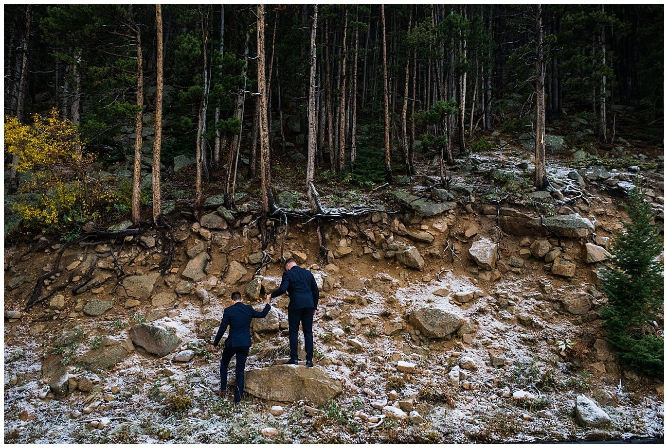 grooms eloping in Rocky Mountain National Park