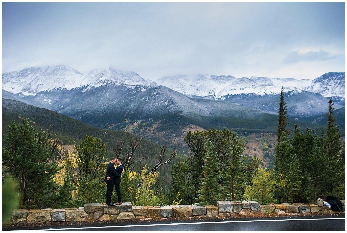Trail Ridge Road elopement views photo