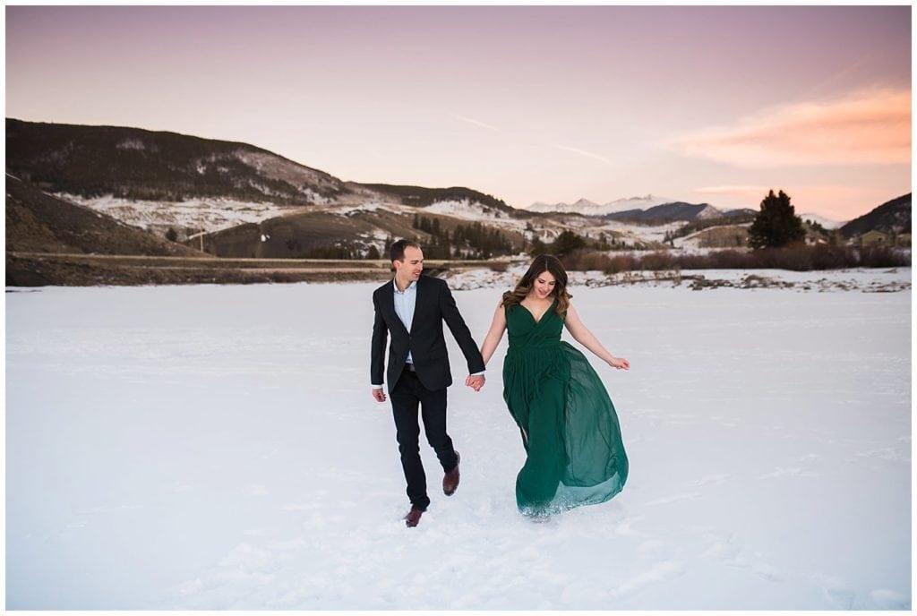 Lake Dillon Winter Engagement photo