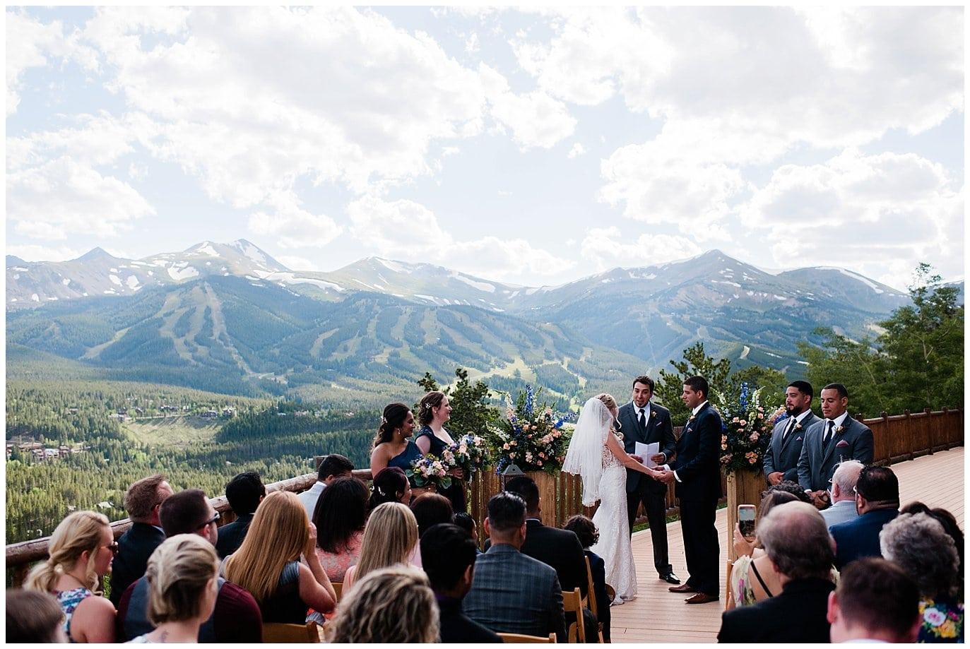 ski resort wedding photo