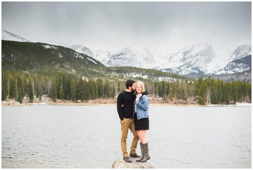 Colorado Mountain Engagement Photo