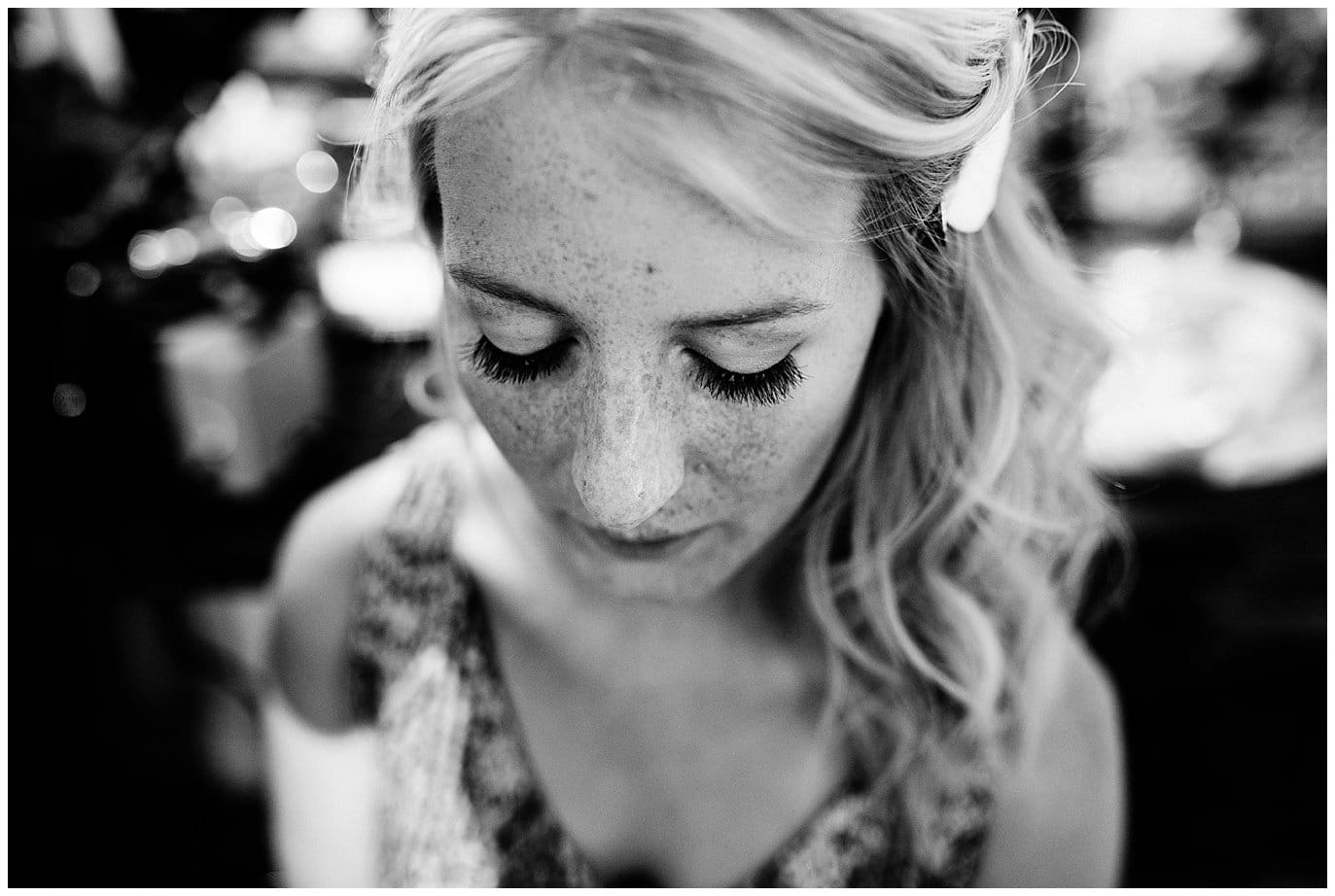Bride getting ready at Deer Creek Valley Ranch wedding by Denver Wedding Photographer Jennie Crate Photographer