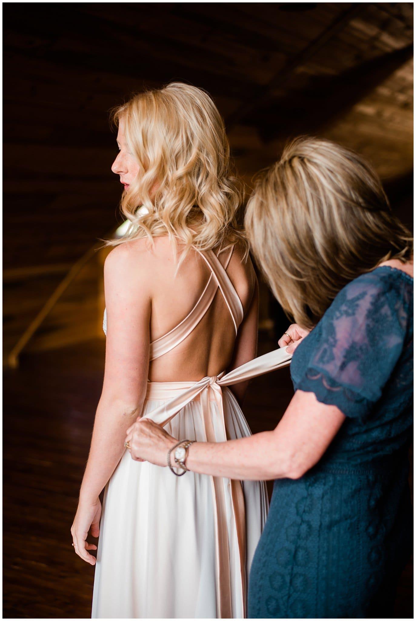 Truvelle Carrall wedding dress at Deer Creek Valley Ranch wedding by Denver Wedding Photographer Jennie Crate Photographer