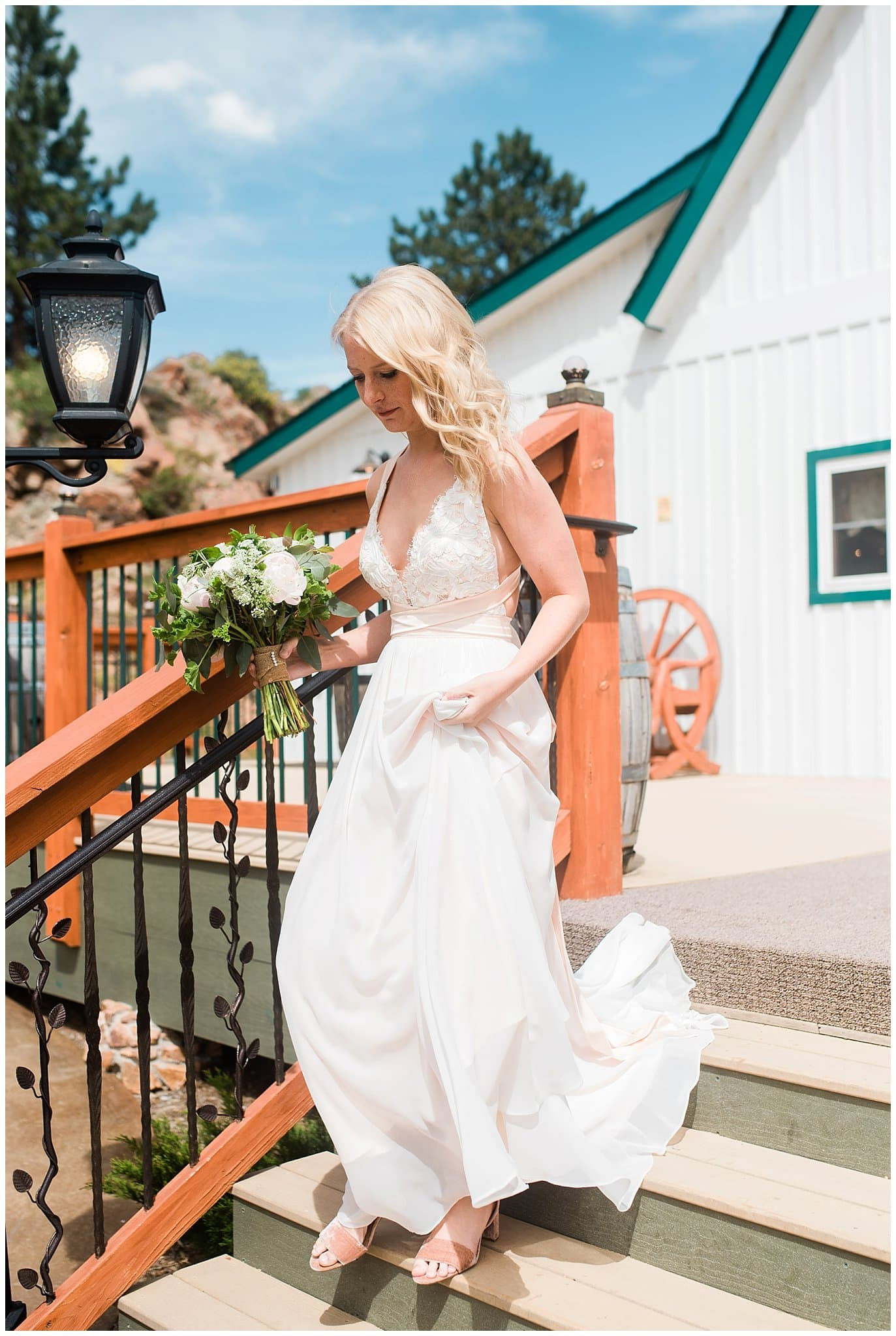 Truvelle Carrall Wedding Dress at Deer Creek Valley Ranch wedding by Deer Creek Valley Ranch Wedding Photographer Jennie Crate Photographer