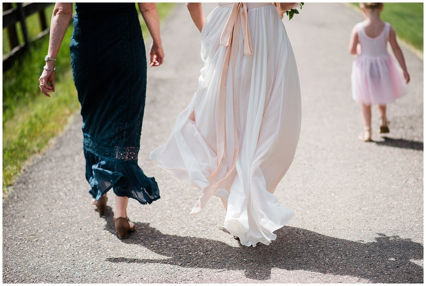 rose pink Truvelle Carrall wedding dress at Deer Creek Valley Ranch wedding by Deer Creek Valley Ranch Wedding Photographer Jennie Crate Photographer