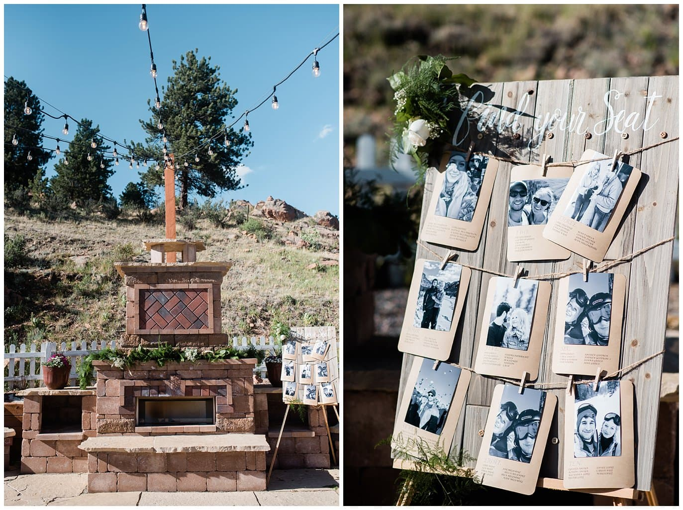 Deer Creek Valley Ranch outdoor wedding patio at Deer Creek Valley Ranch wedding by Boulder Wedding Photographer Jennie Crate Photographer