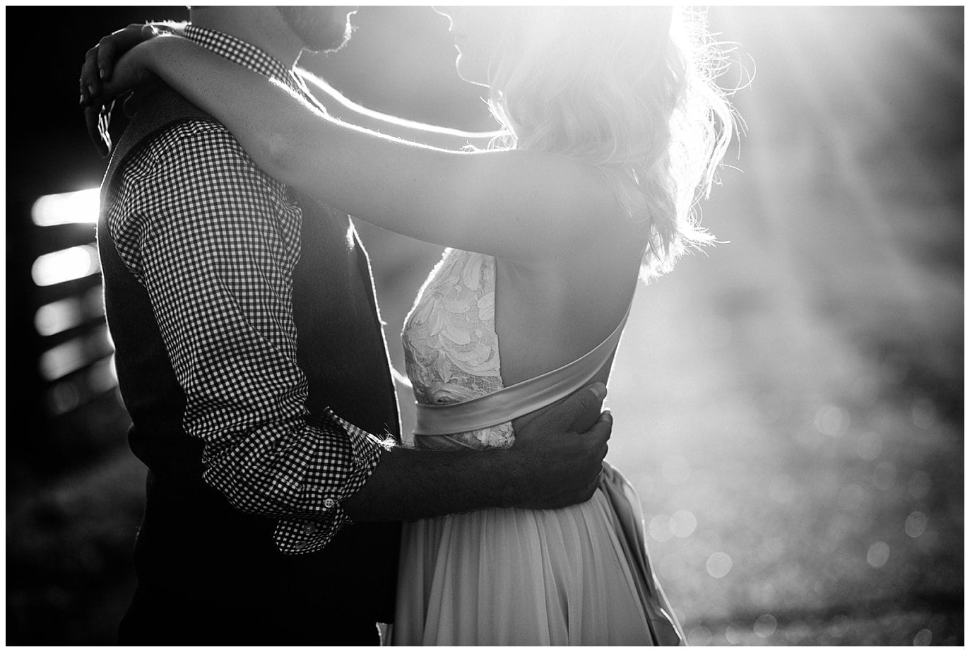 Romantic bride and groom photo at Deer Creek Valley Ranch wedding by Colorado Wedding Photographer Jennie Crate Photographer