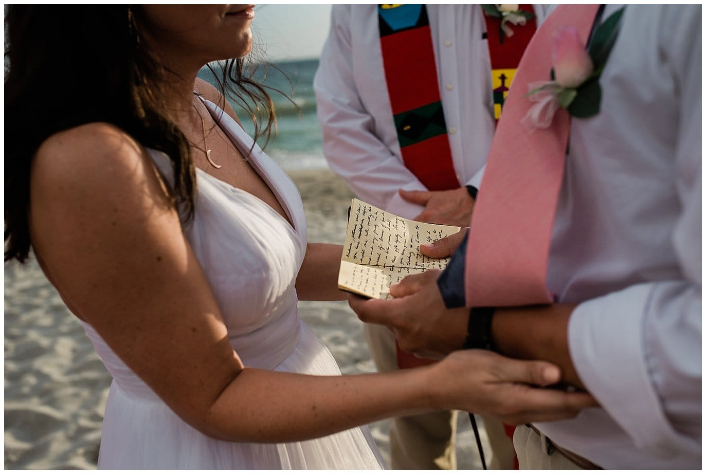 Florida beach wedding vows photo