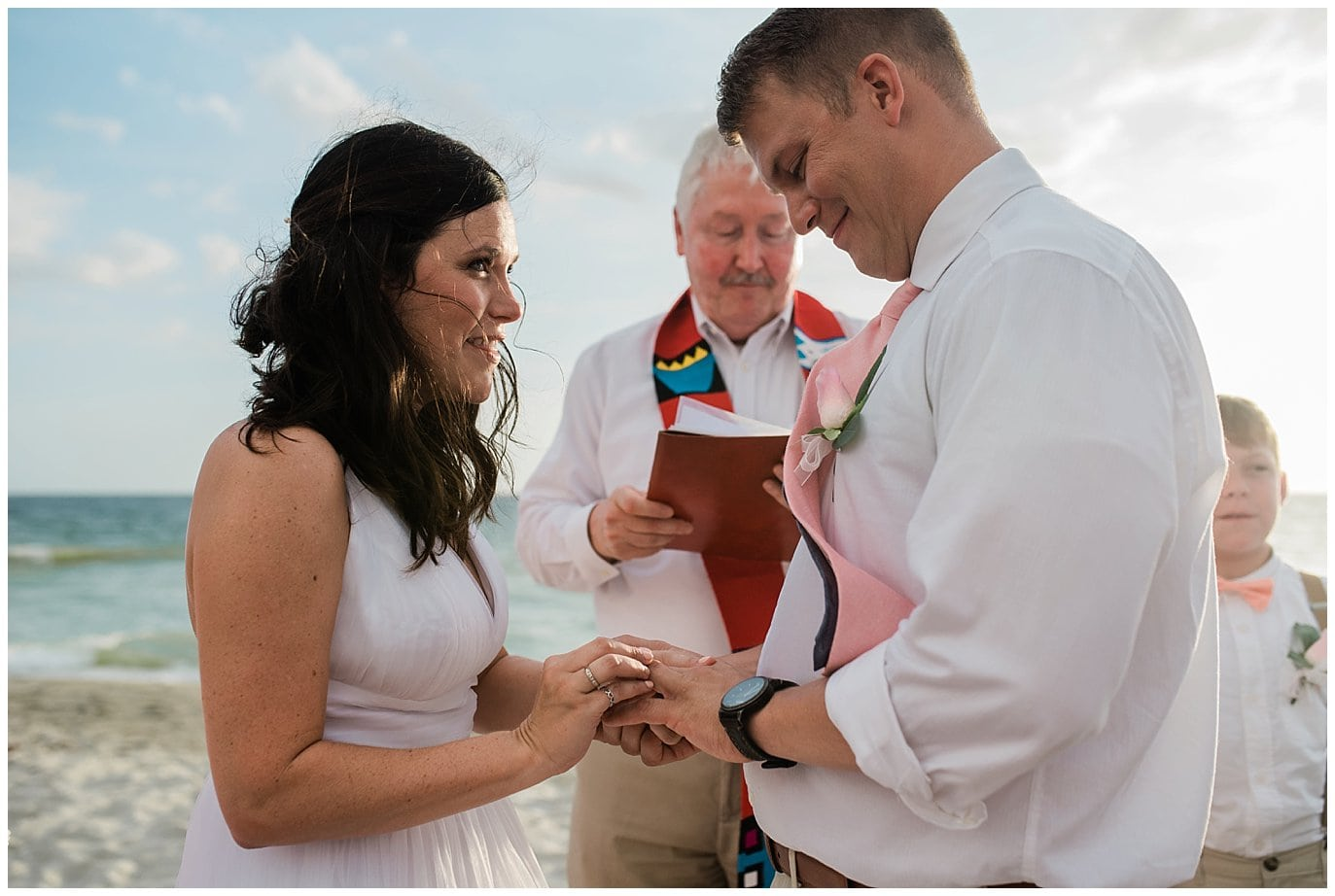 Florida beach ring exchange photo