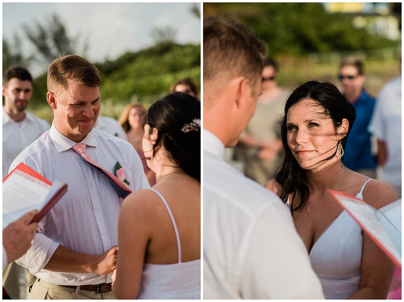Captiva Island Beach wedding vows photo