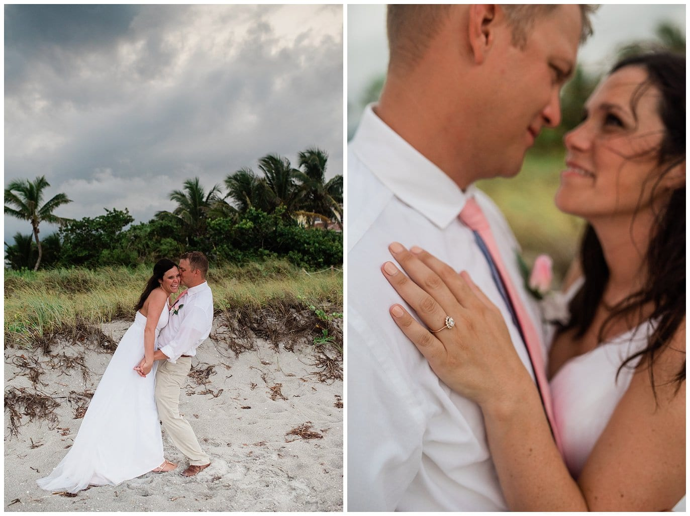 stormy florida beach wedding photo