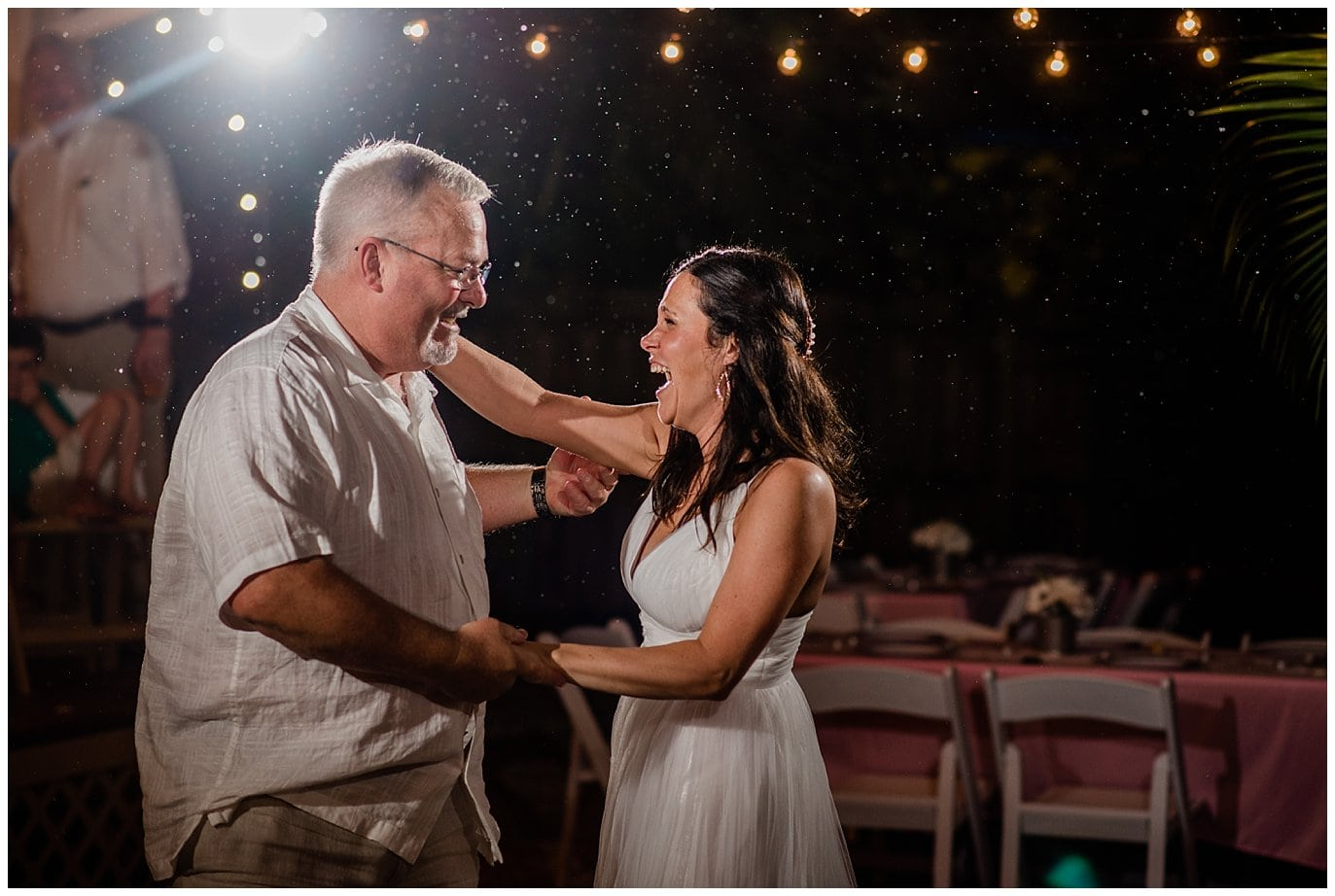 first dance in the rain photo