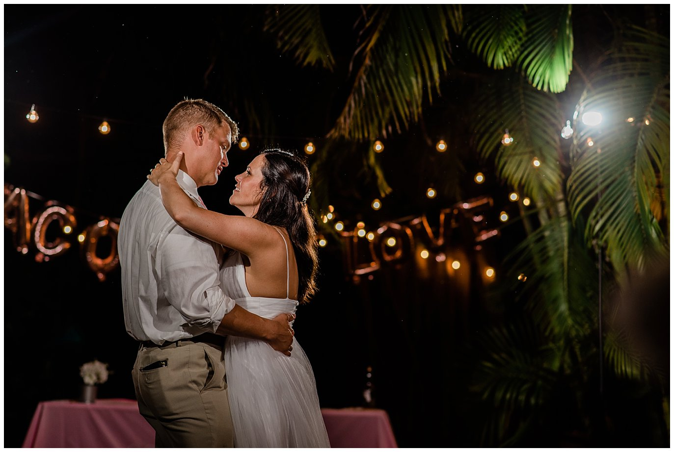 first dance florida beach backyard wedding photo