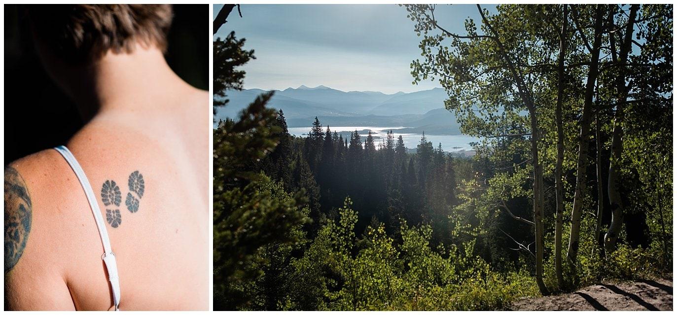Lake view from sunrise hike photo