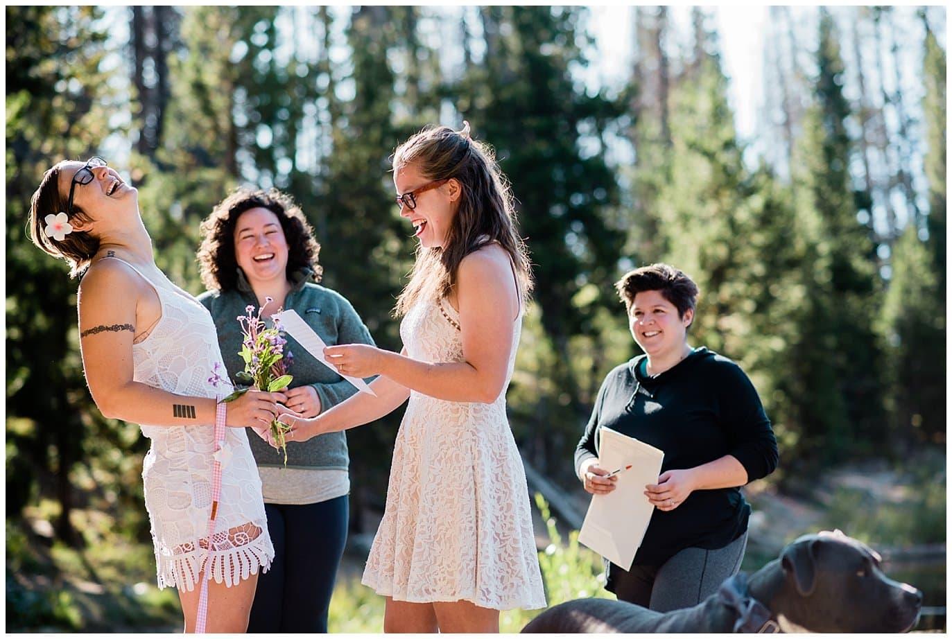 vows at sunrise Breckenridge elopement photo