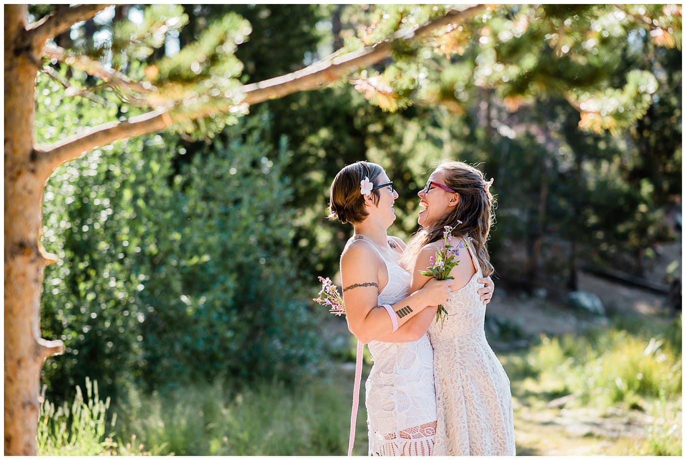 Summer hiking elopement photo