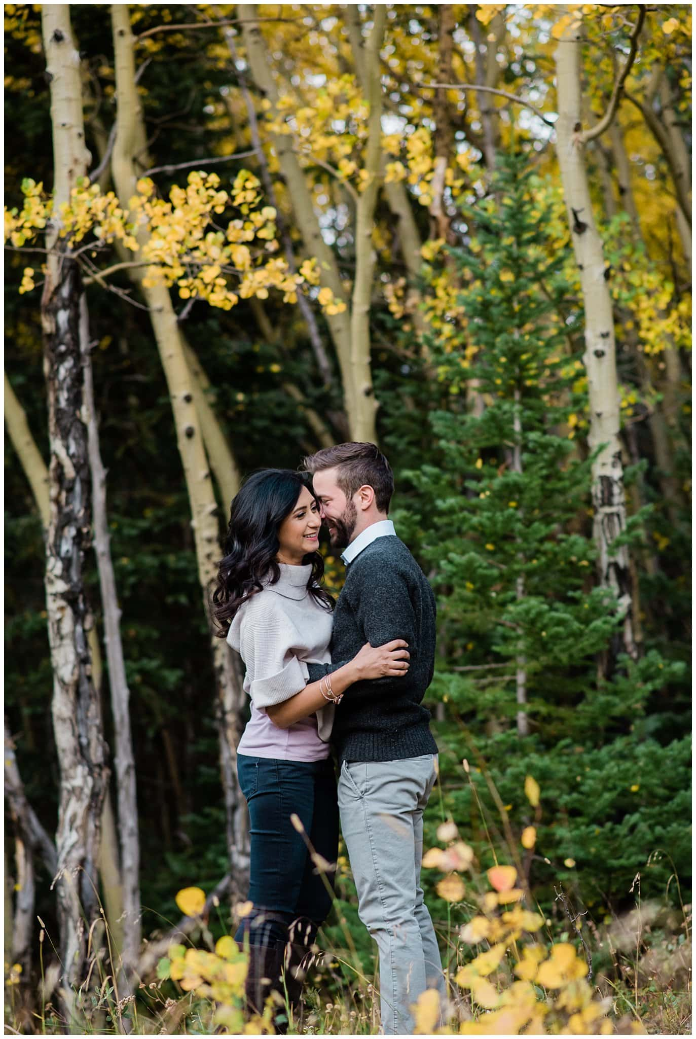Fall engagement in Rocky Mountain National Park photo