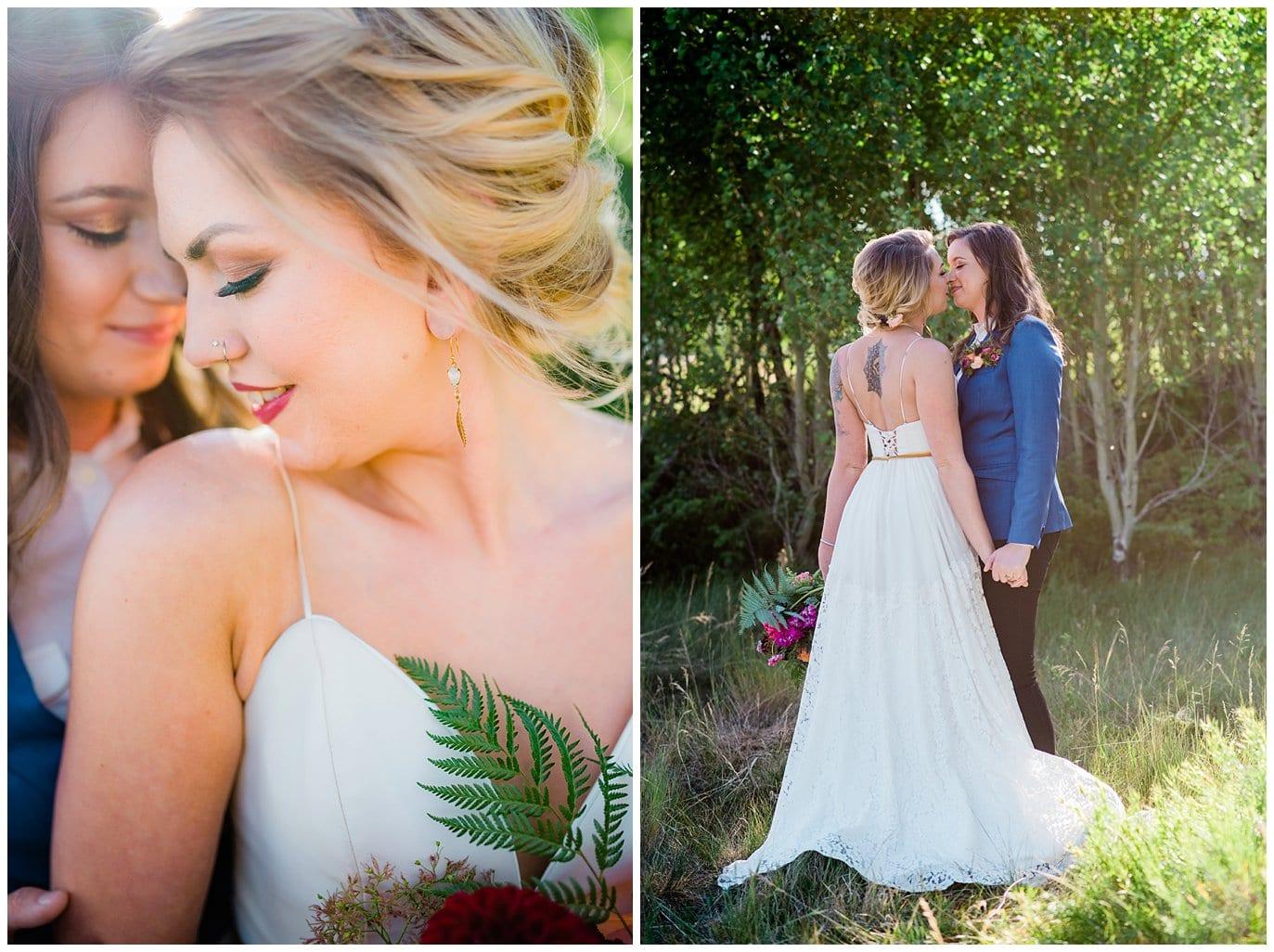 intimate same-sex wedding photo