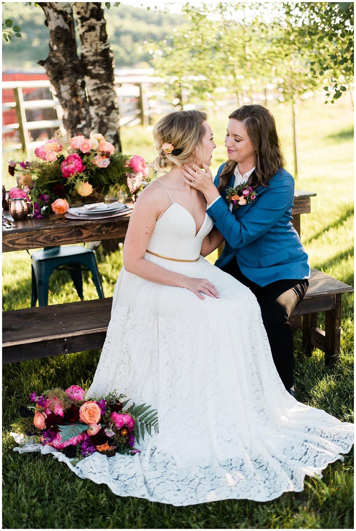 sunny summer colorado wedding photo