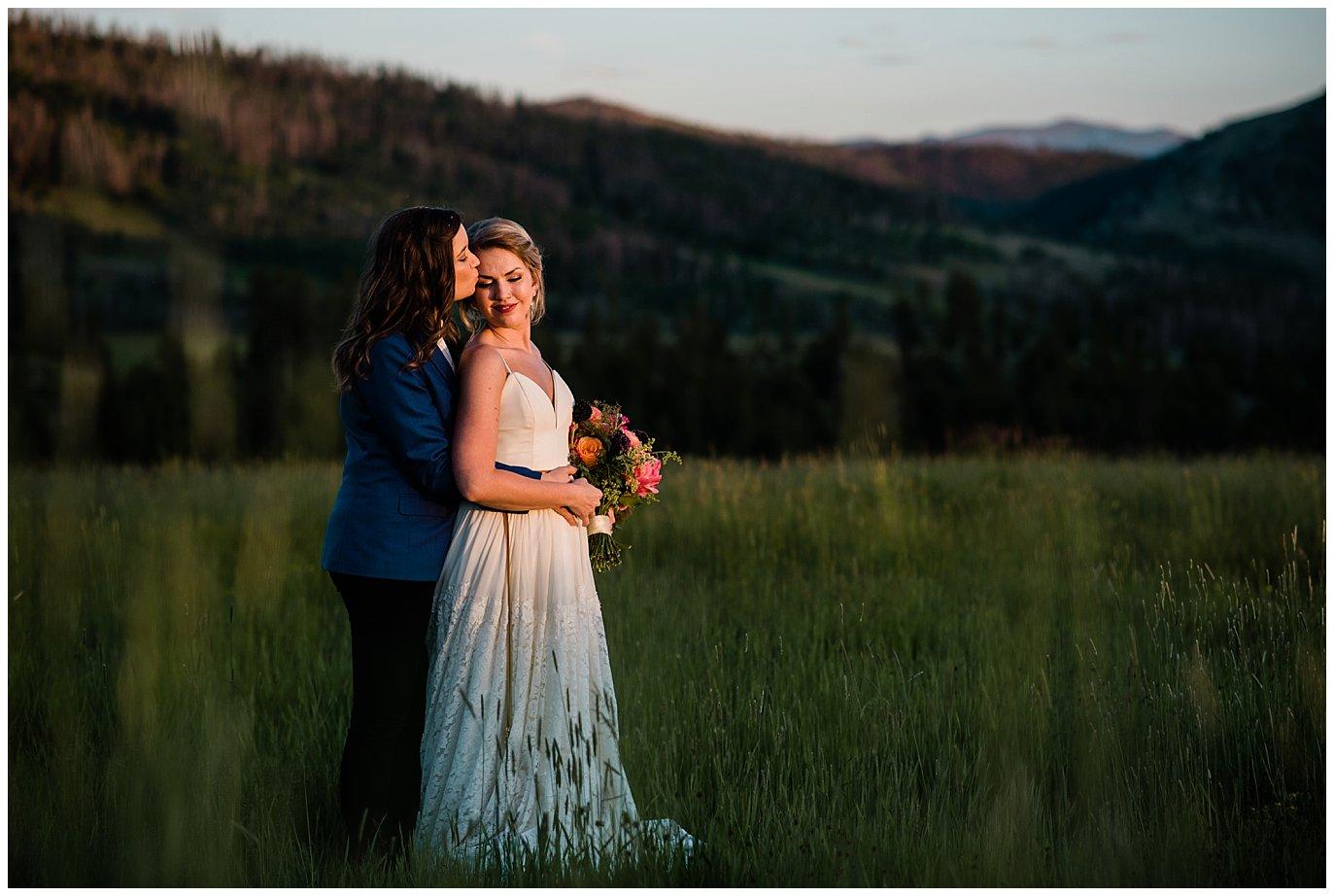 Strawberry Creek Ranch romantic wedding photo