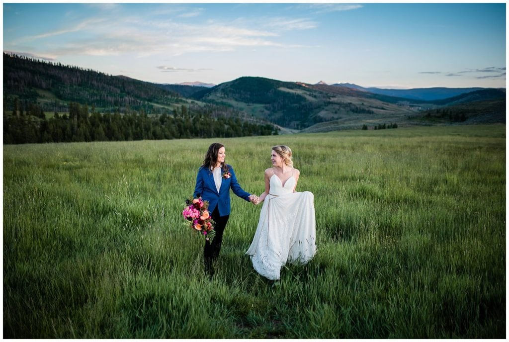 Same-sex Colorado Mountain wedding by Denver Wedding Photographer Jennie Crate Photographer