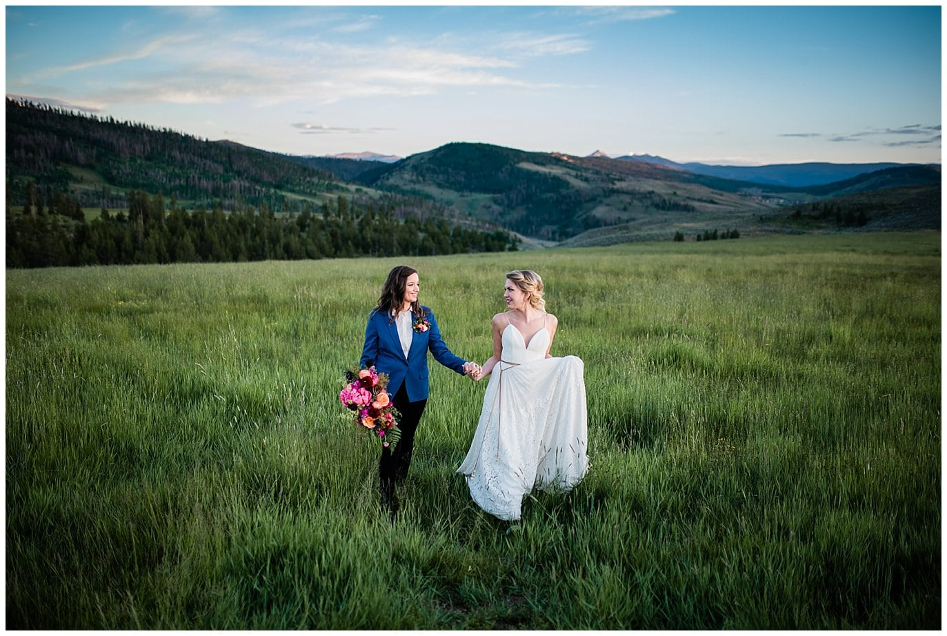 The Best Colorado Wedding Vendors include The Olive and Poppy and a & be bridal shop at Strawberry Creek Ranch in Granby Colorado by Colorado Wedding Photographer Jennie Crate Photographer