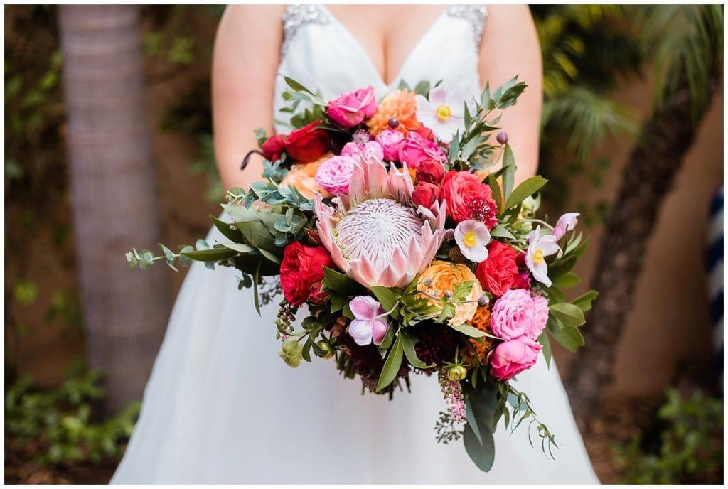 Colorful Annette Gomez Wedding Flowers california wedding photo