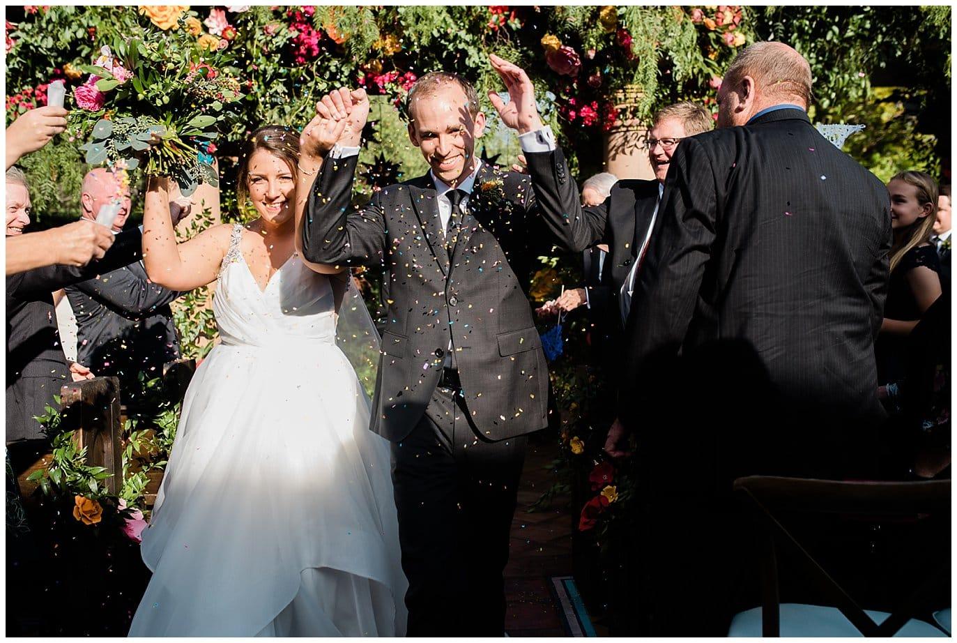 confetti exit wedding photo