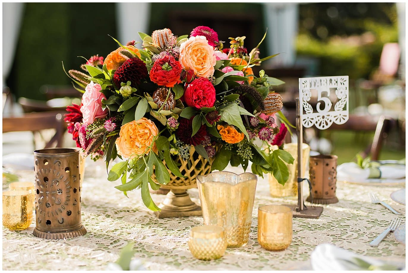 mexican decorative flag wedding table numbers photo
