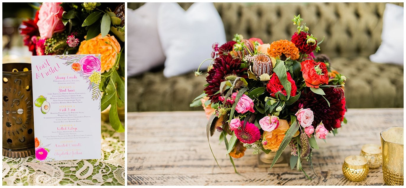 colorful mexican inspired california wedding photo