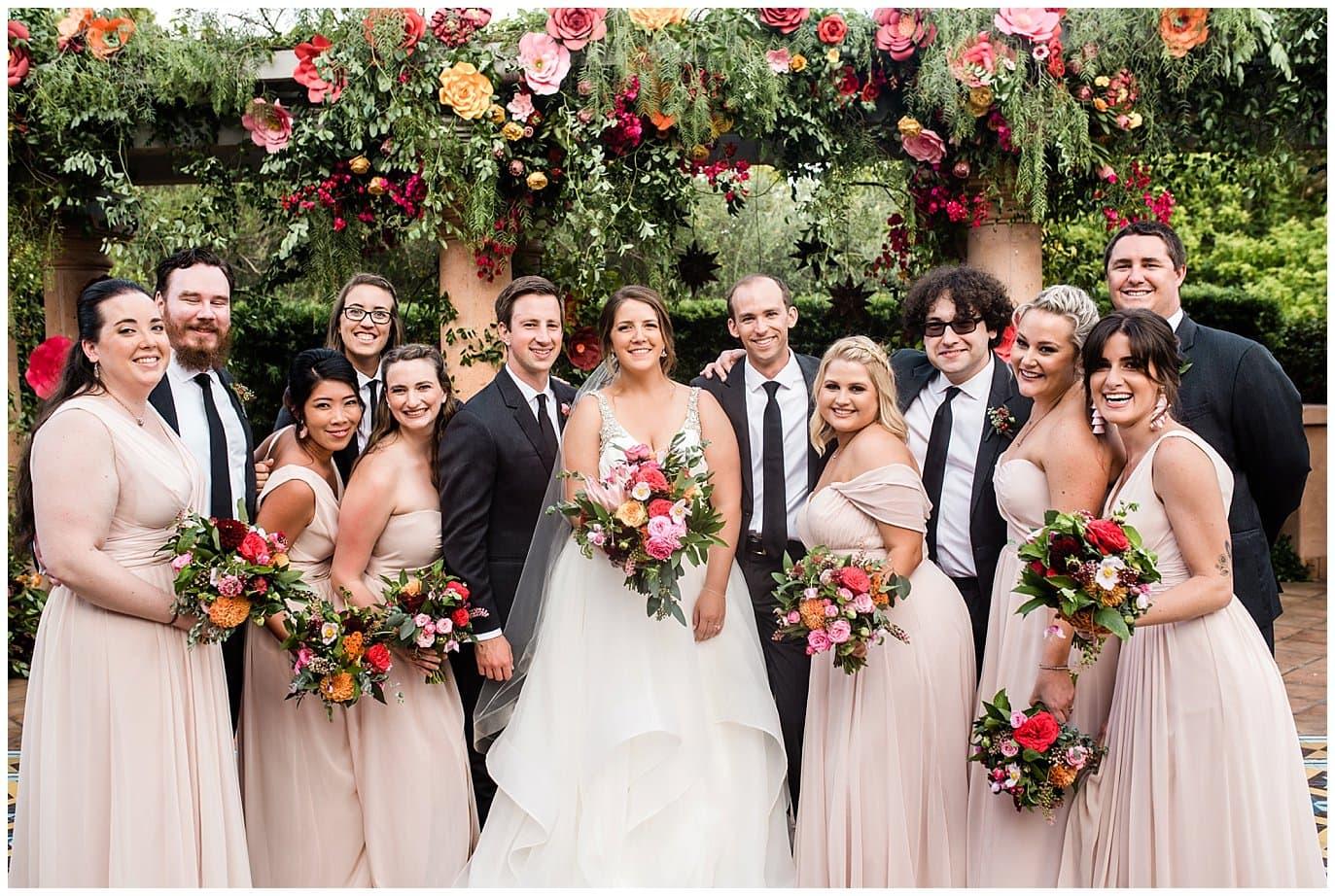 Rancho Valencia wedding party photo