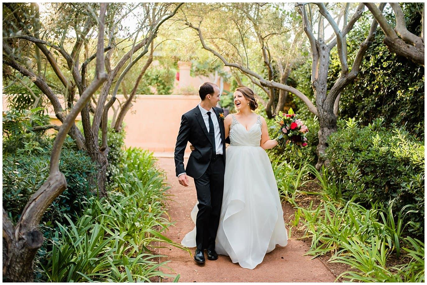 Rancho Valencia olive grove wedding photo