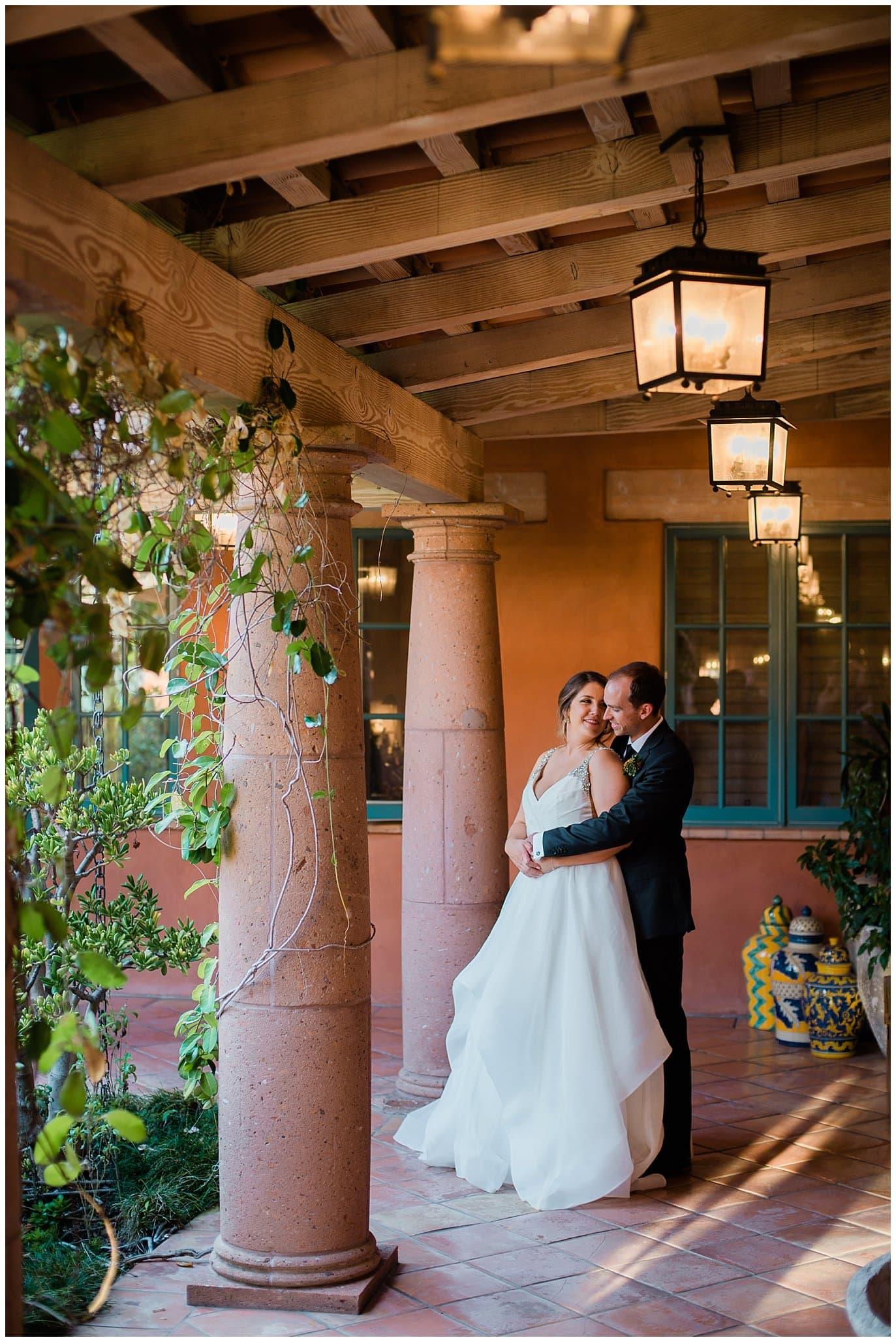Rancho Valencia spa wedding photo