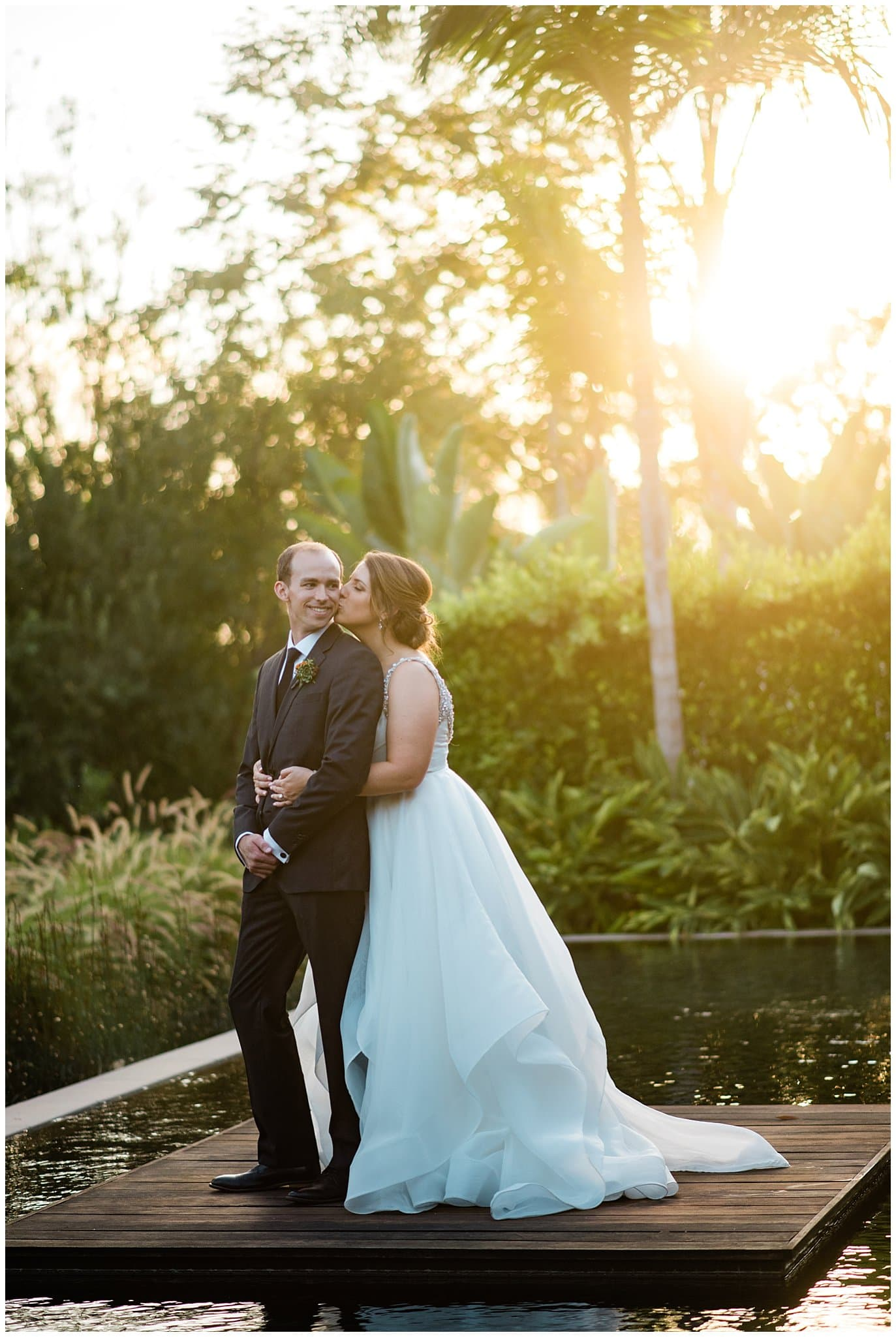 sunset california wedding photo
