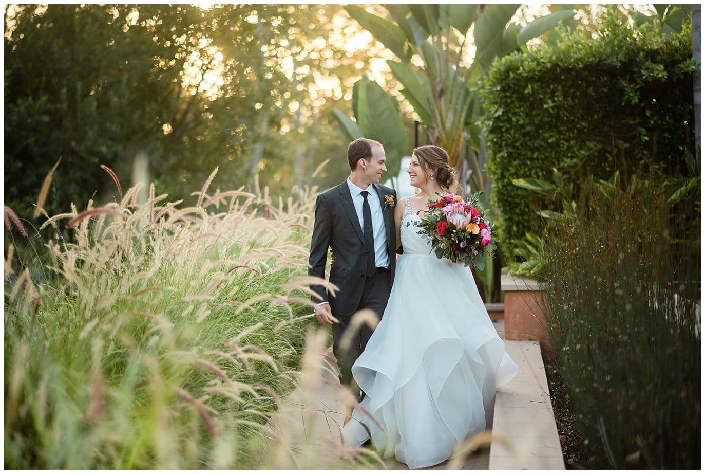 sunset wedding at Rancho Valencia Spa photo
