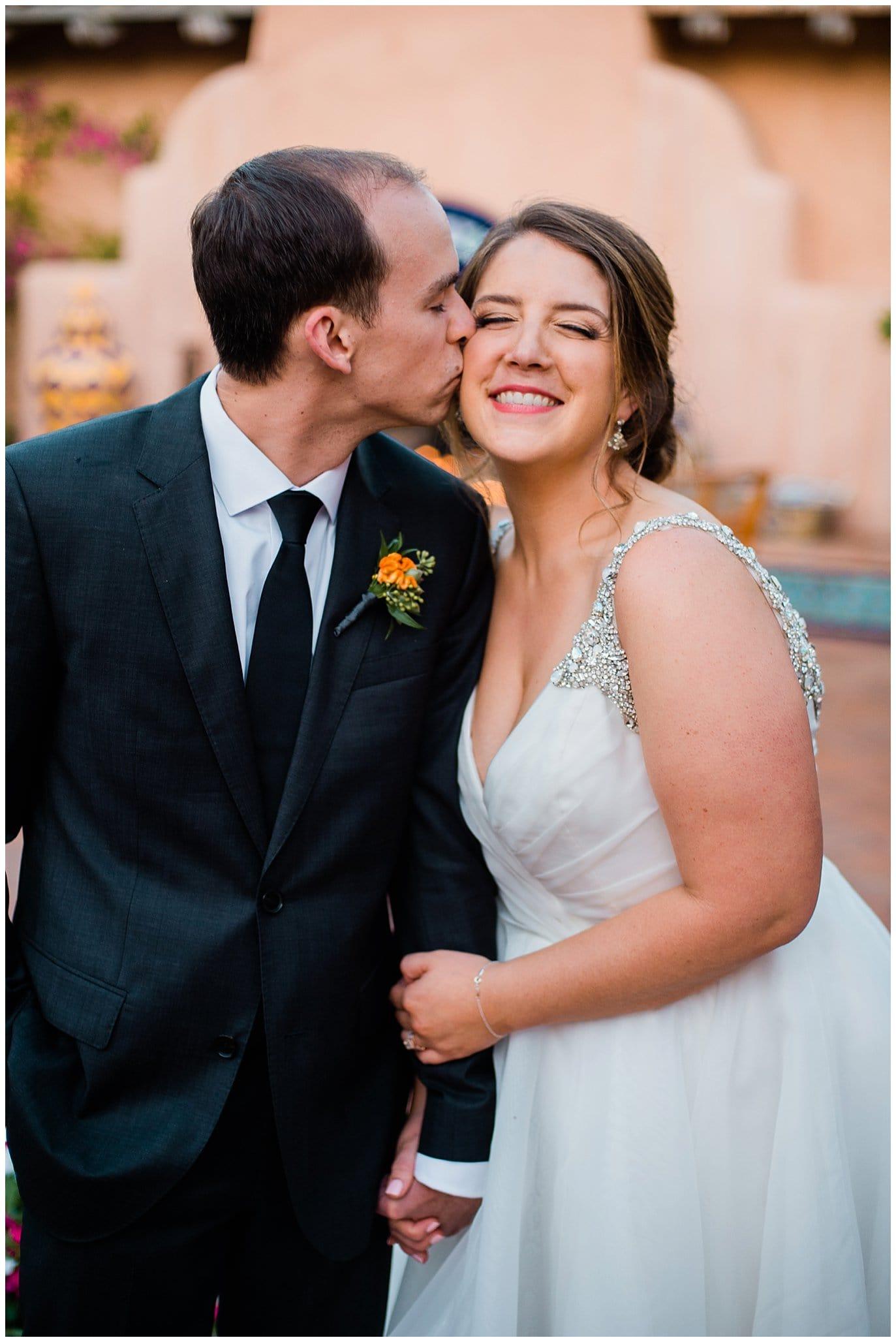 cute cuddly california wedding photo