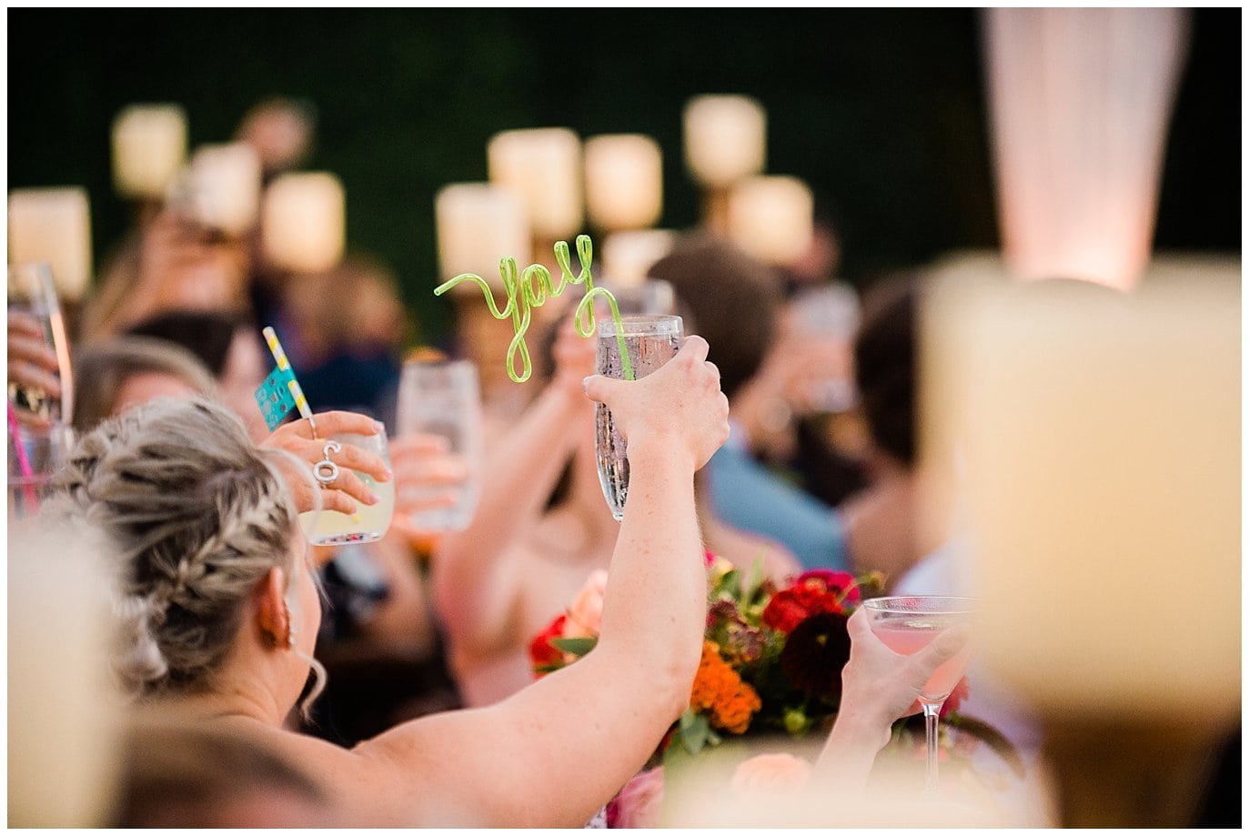 swirly straw wedding favors photo