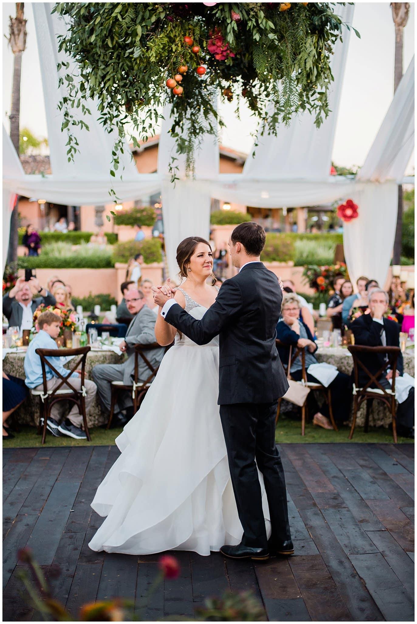 First dance photo Rancho Valencia wedding photo