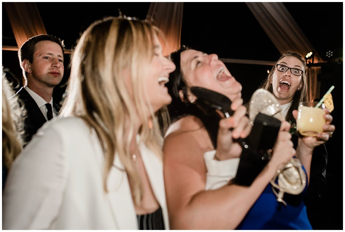 California wedding reception dancing photo