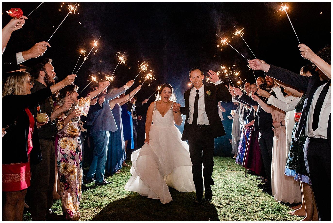 Sparkler Exit at Rancho Valencia Wedding photo