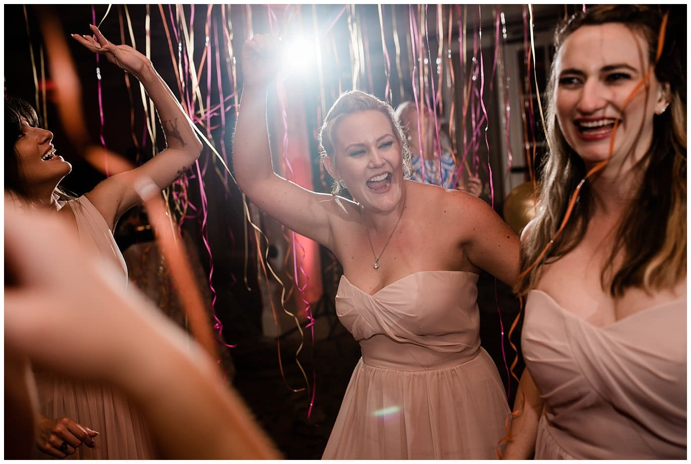 Rancho Valencia balloon after party wedding photo