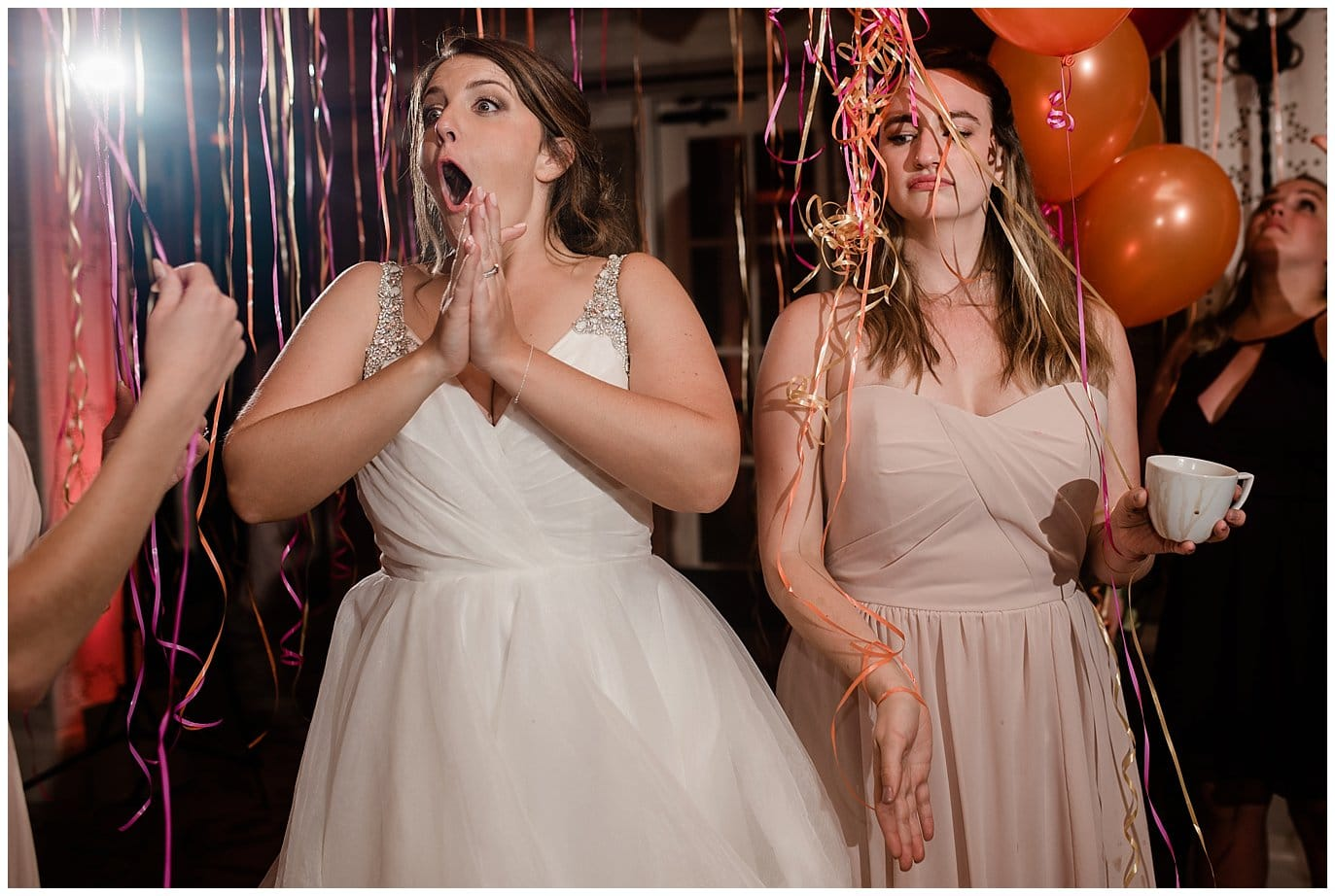 after party wedding party with balloons photo