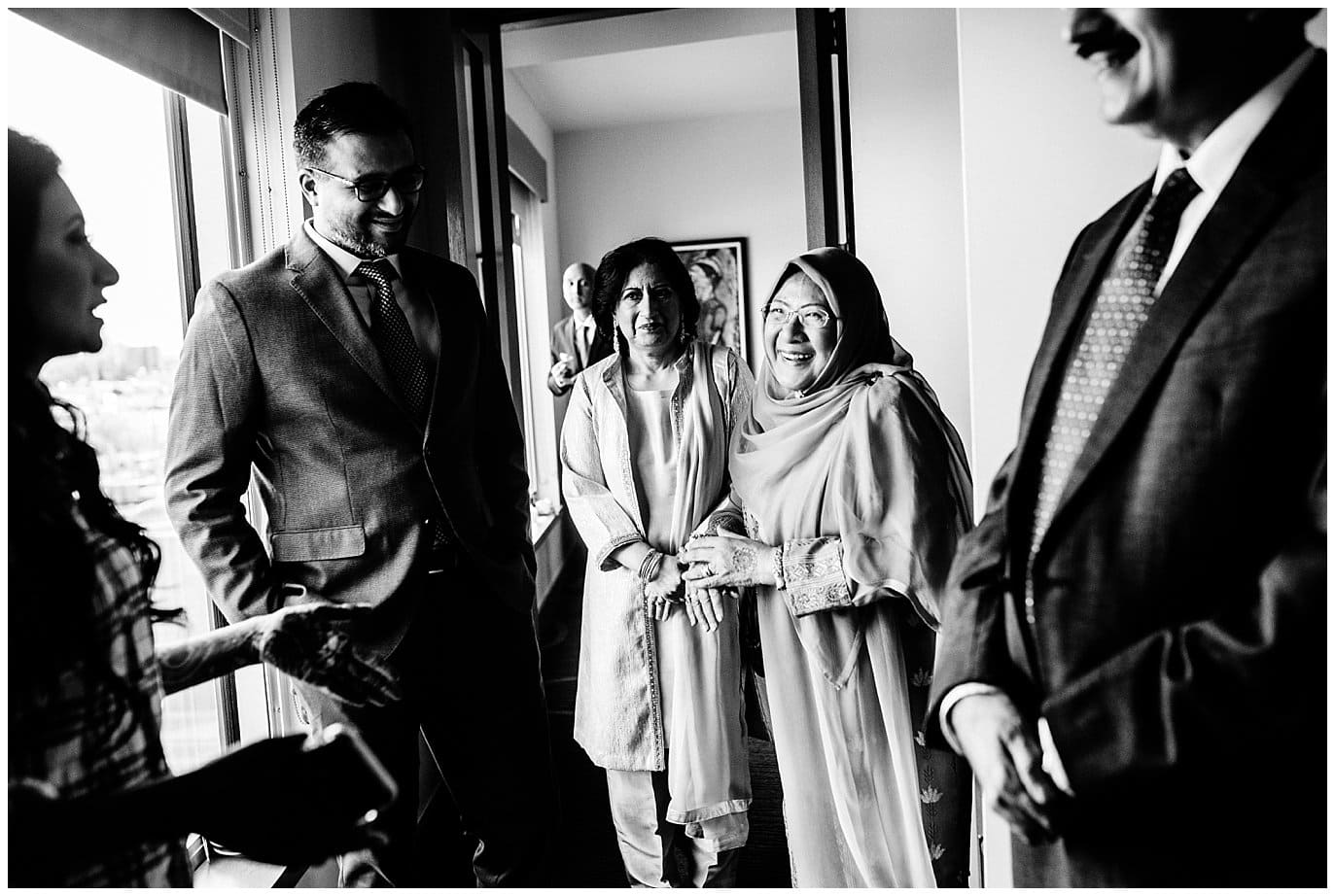 family gathered together before NIkah ceremony photo