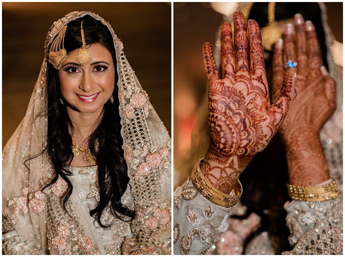 bride in duppata and customized henna Denver Nikah Ceremony photo