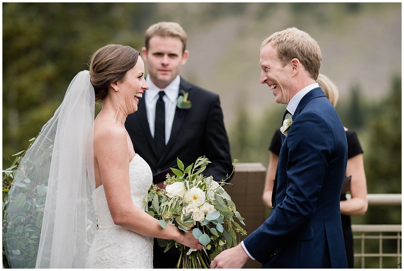 excited couple at Arapahoe Basin Black Mountain Lodge Wedding by Colorado Wedding Photographer Jennie Crate