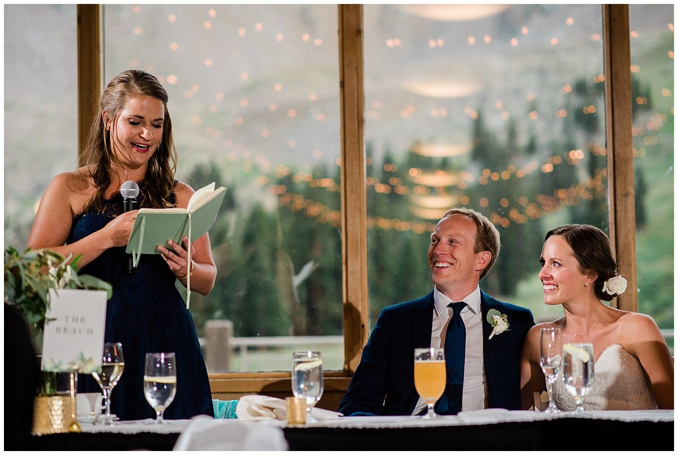 toasts at Arapahoe Basin Black Mountain Lodge Wedding by Denver Wedding Photographer Jennie Crate