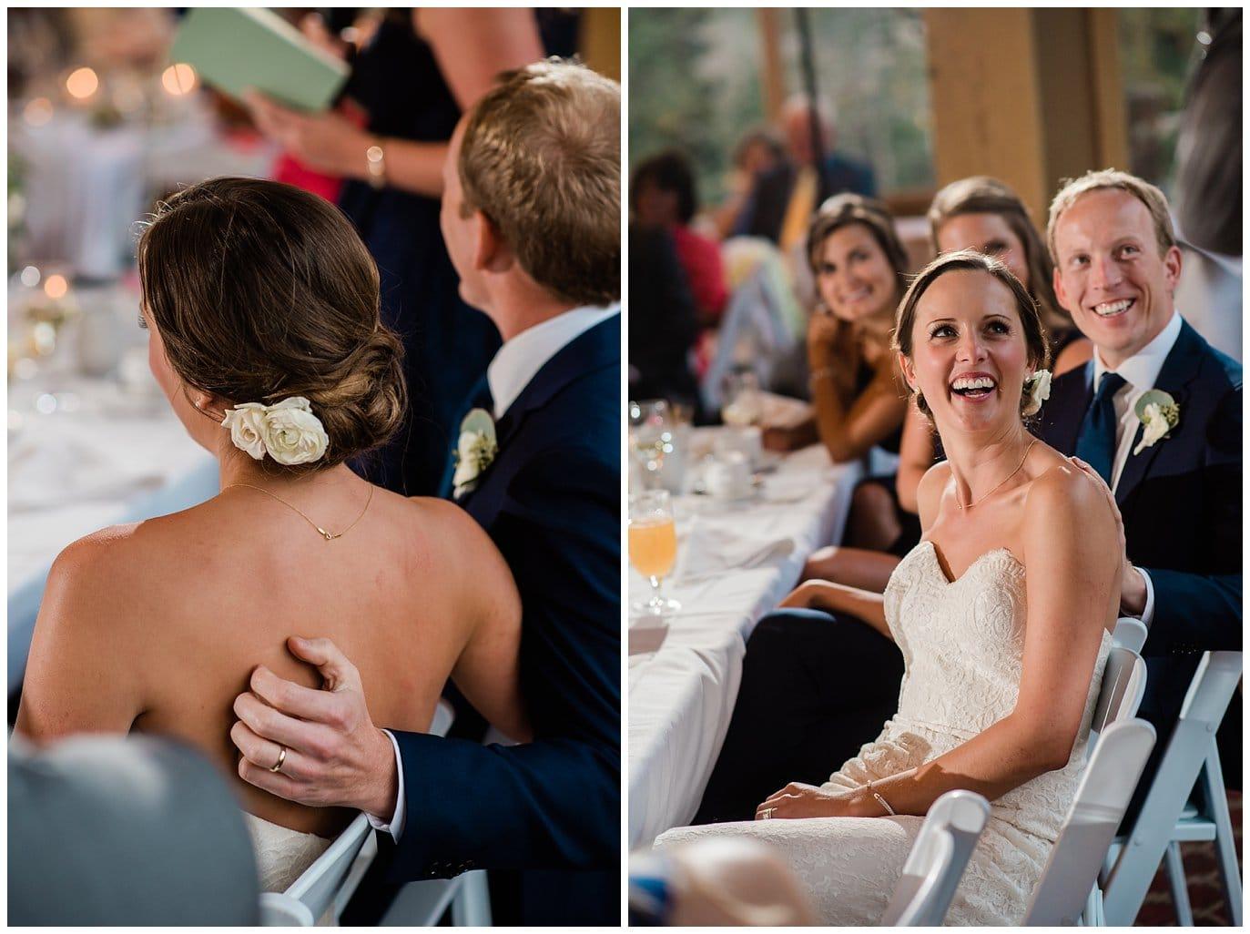 wedding toasts at Arapahoe Basin Black Mountain Lodge Wedding by Colorado Wedding Photographer Jennie Crate