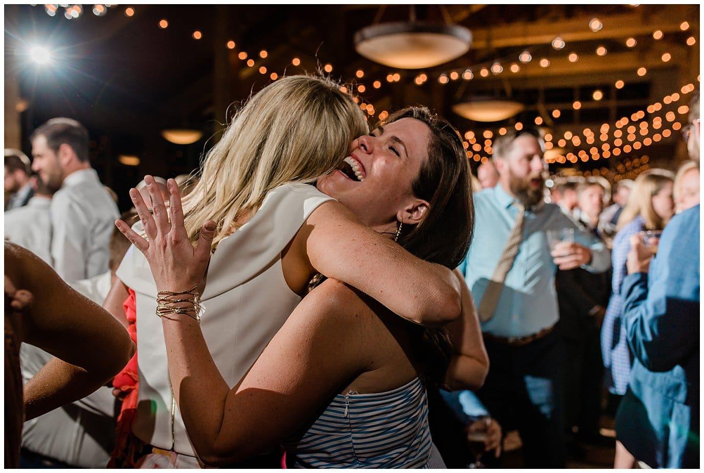 dance party at Arapahoe Basin Black Mountain Lodge Wedding by Arapahoe Basin Wedding Photographer Jennie Crate