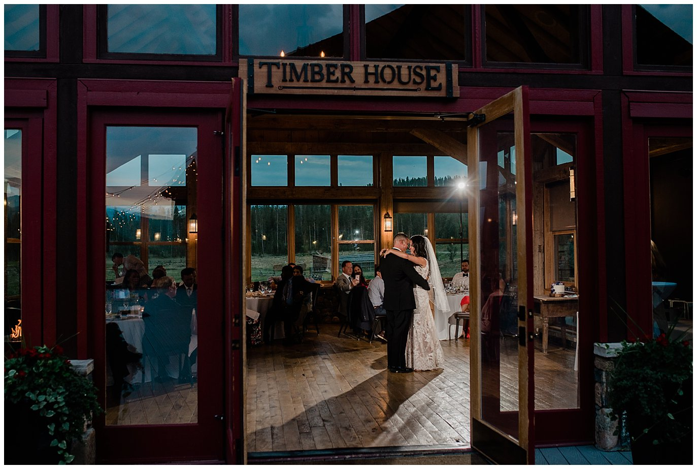 first dance at timber house during devil's thumb ranch photo
