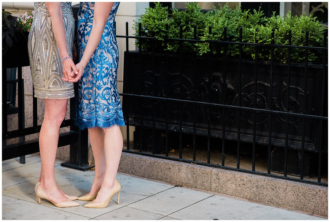 two brides in heels photo